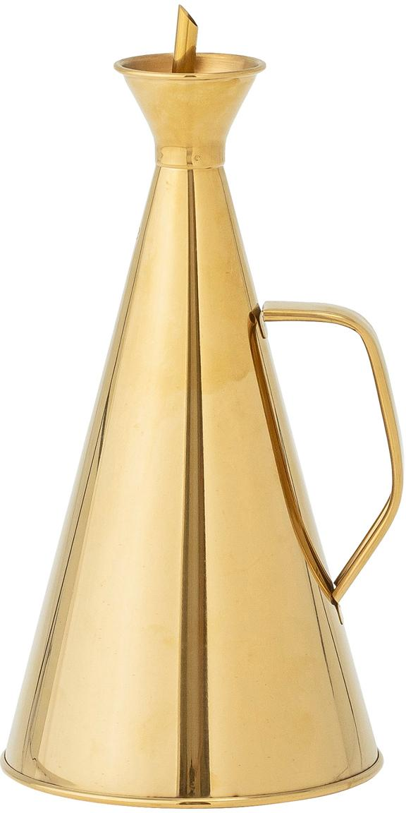 Aceitera y vinegrera Bask, Acero inoxidable recubierto, Latón, Ø 13 x Al 28 cm
