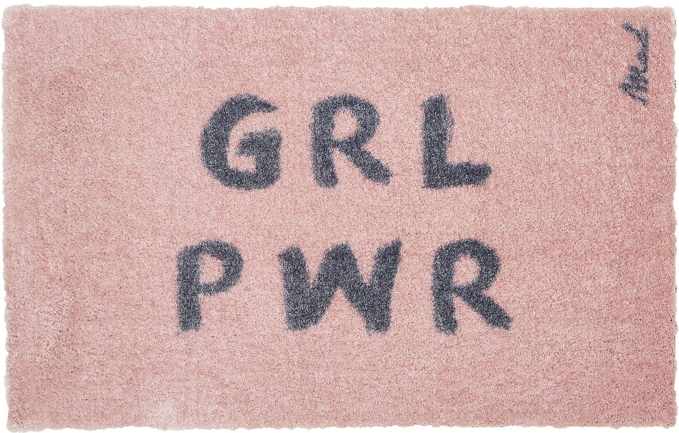 Tappeto per ingresso rosa Girl Power Chantal, Poliammide, Rosa, Larg. 50 x Lung. 75 cm