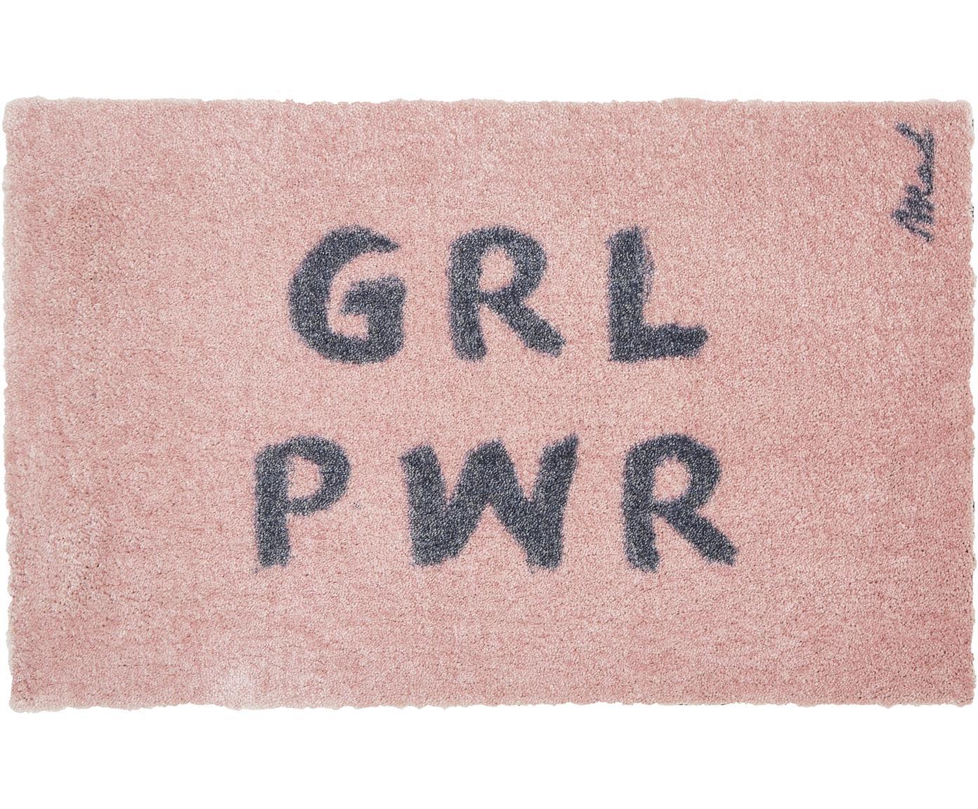 Waschbare Polyamid-Fußmatte Chantal, Vorderseite: Polyamid, Rückseite: Kunststoff, Rosa, 50 x 75 cm