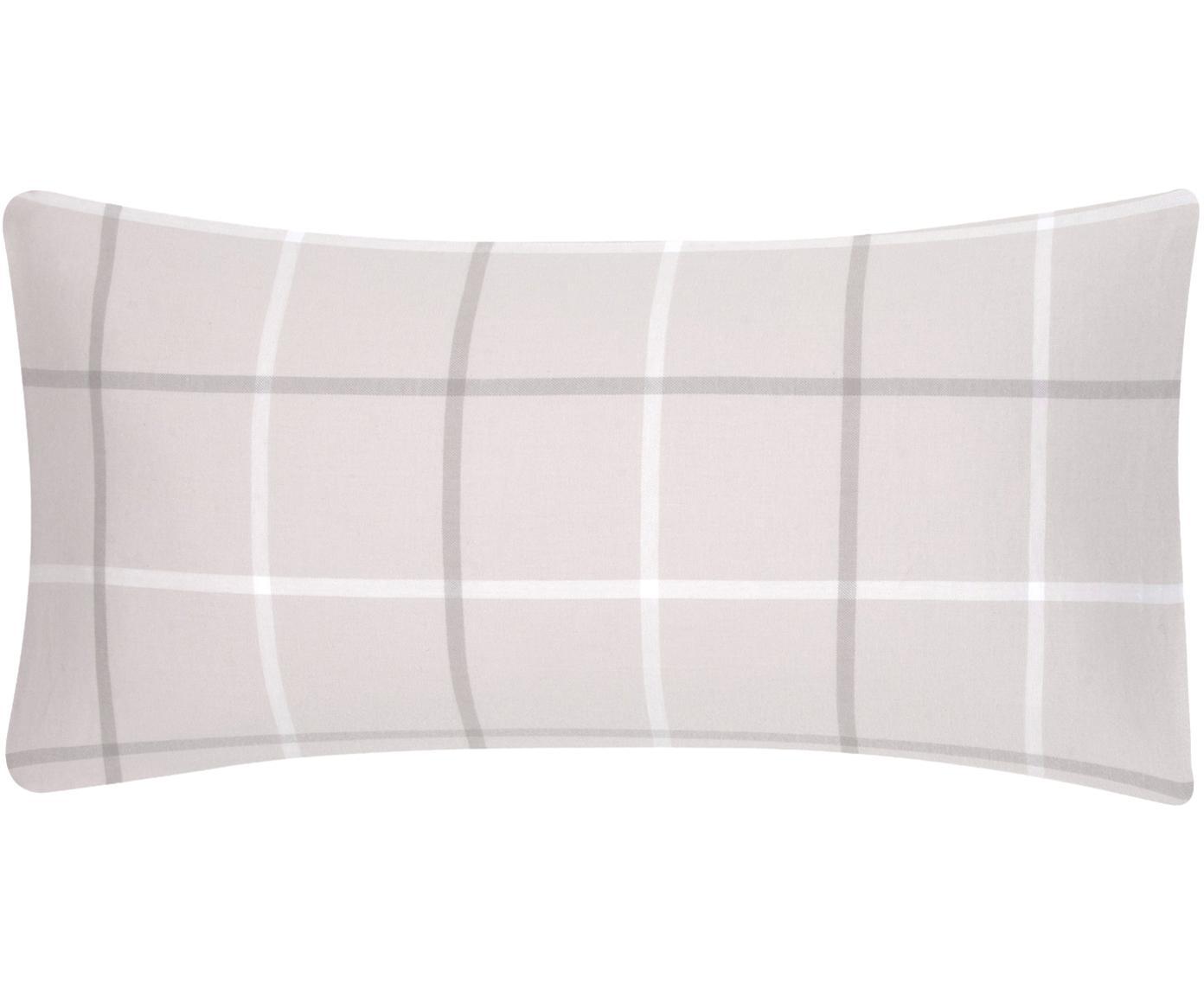 Flanell-Kissenbezüge Rafa, kariert, 2 Stück, Webart: Flanell Flanell ist ein s, Beige, 40 x 80 cm