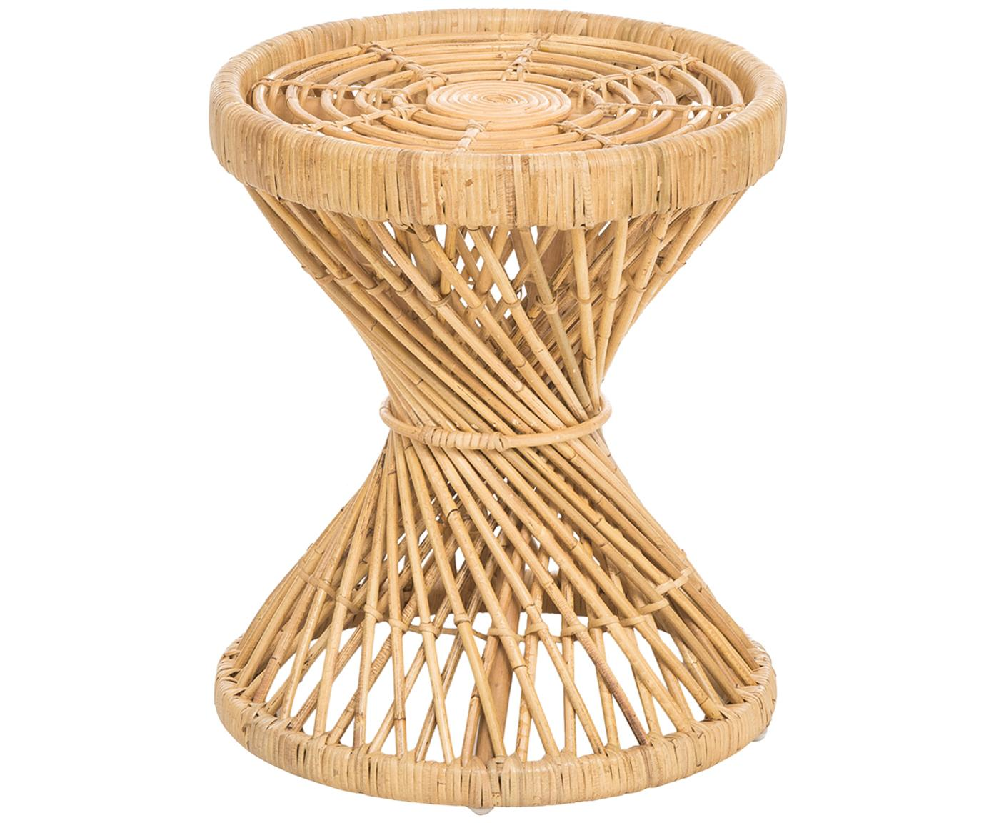 Tavolino boho in rattan Marvel, Rattan, finitura naturale, Rattan, finitura naturale, Ø 40 x A 47 cm
