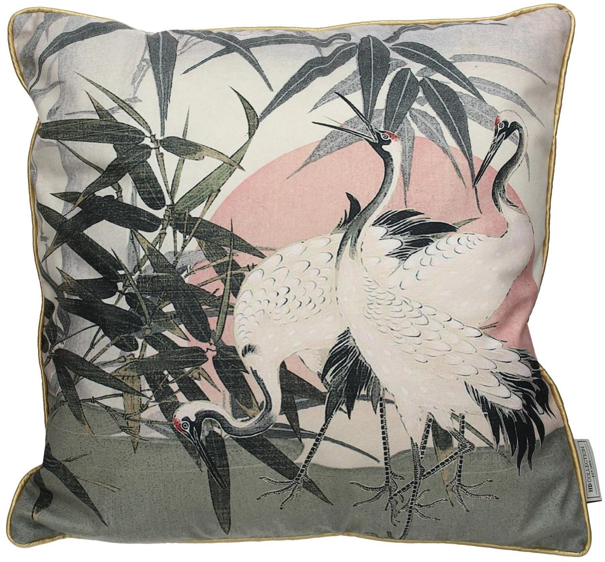 Cuscino in velluto con imbottitura Tripo, Velluto di poliestere, Multicolore, Larg. 45 x Lung. 45 cm