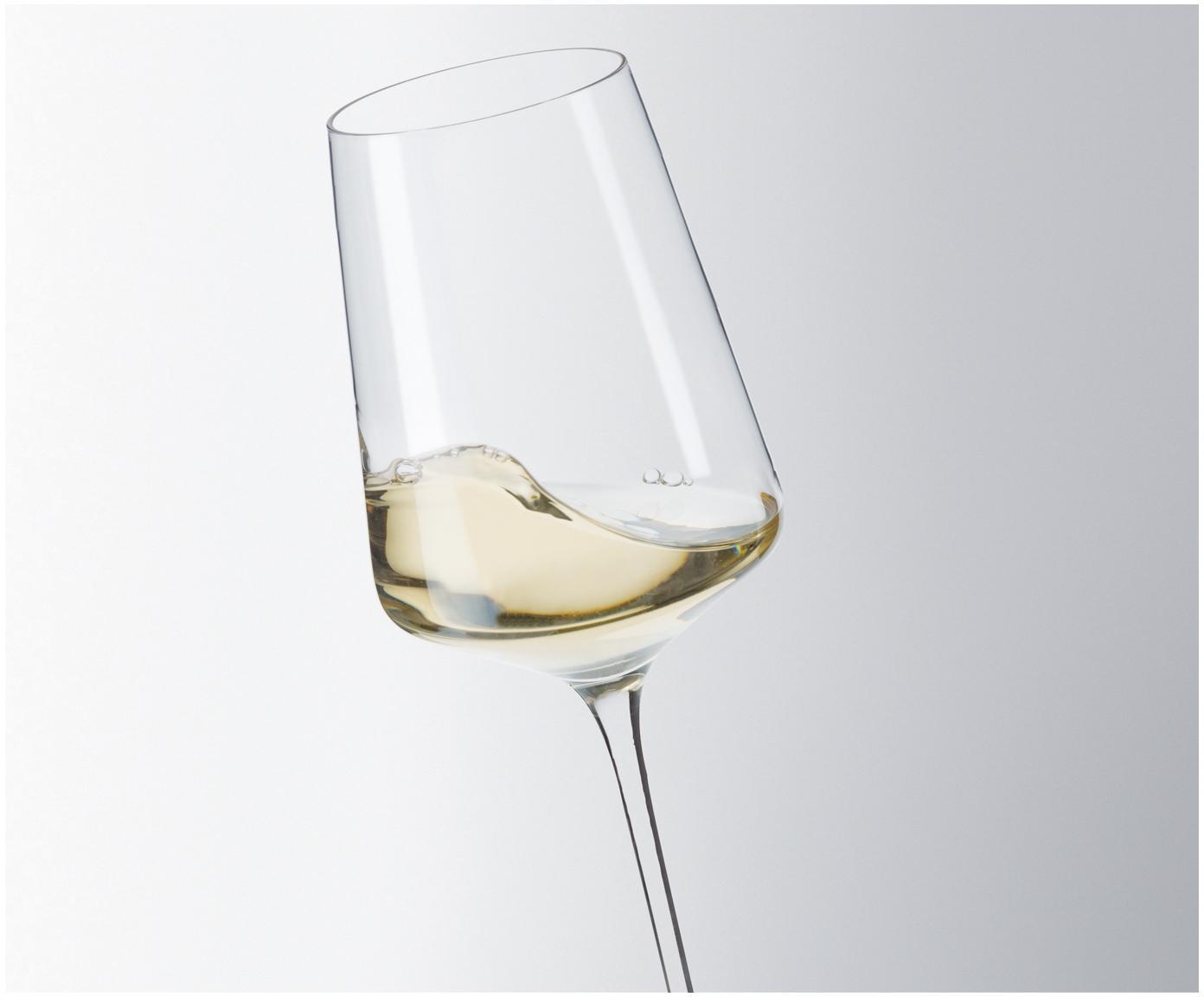 Witte wijnglazen Puccini, 6 stuks, Teqton®-glas, Transparant, 560 ml