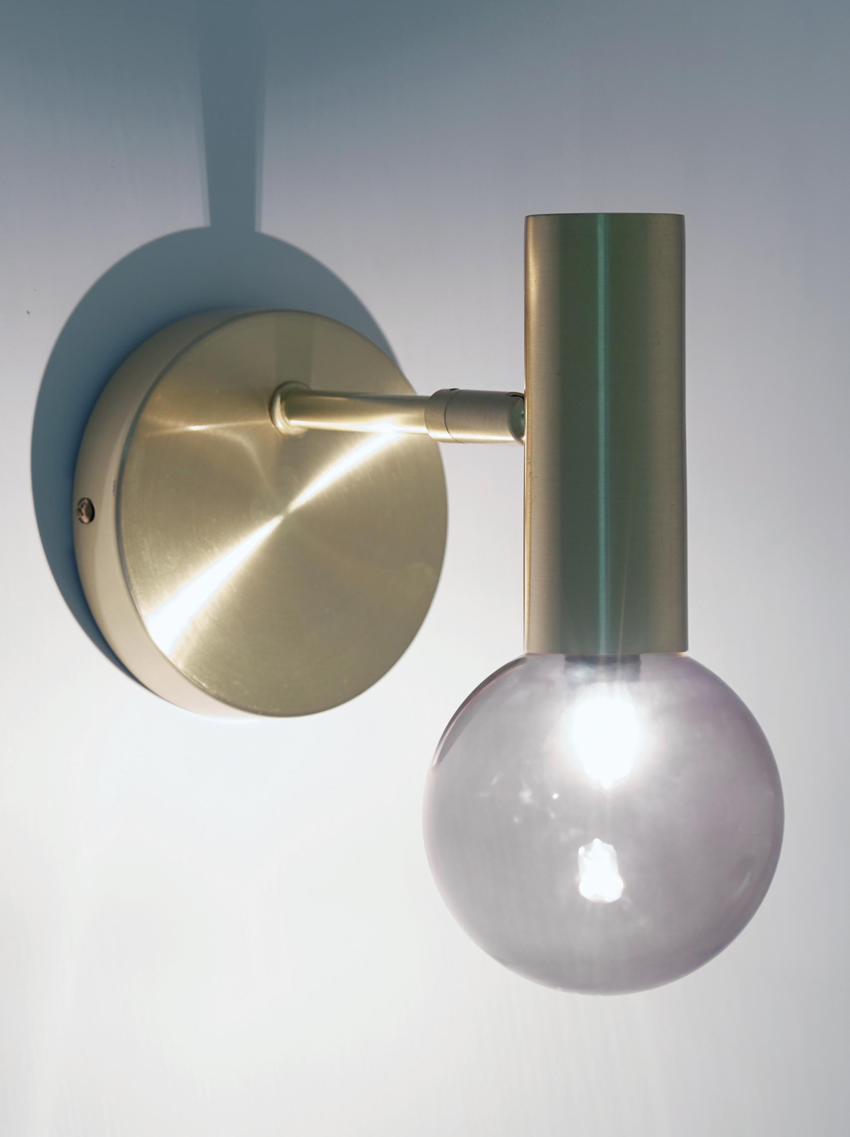 Wandleuchte Wilson, Lampenschirm: Glas, Messing, Ø 10 x H 22 cm