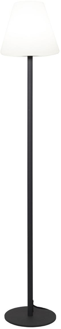 Outdoor LED vloerlamp Gardenlight, Lampvoet: gecoat metaal, Wit, antraciet, Ø 28 x H 150 cm