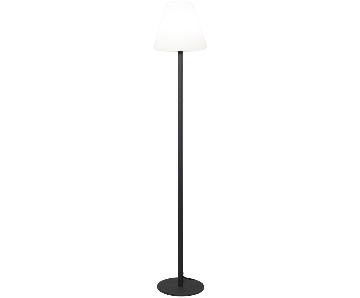 Outdoor LED vloerlamp Gardenlight, Kunststof, metaal, Wit, antraciet, Ø 28 x H 150 cm