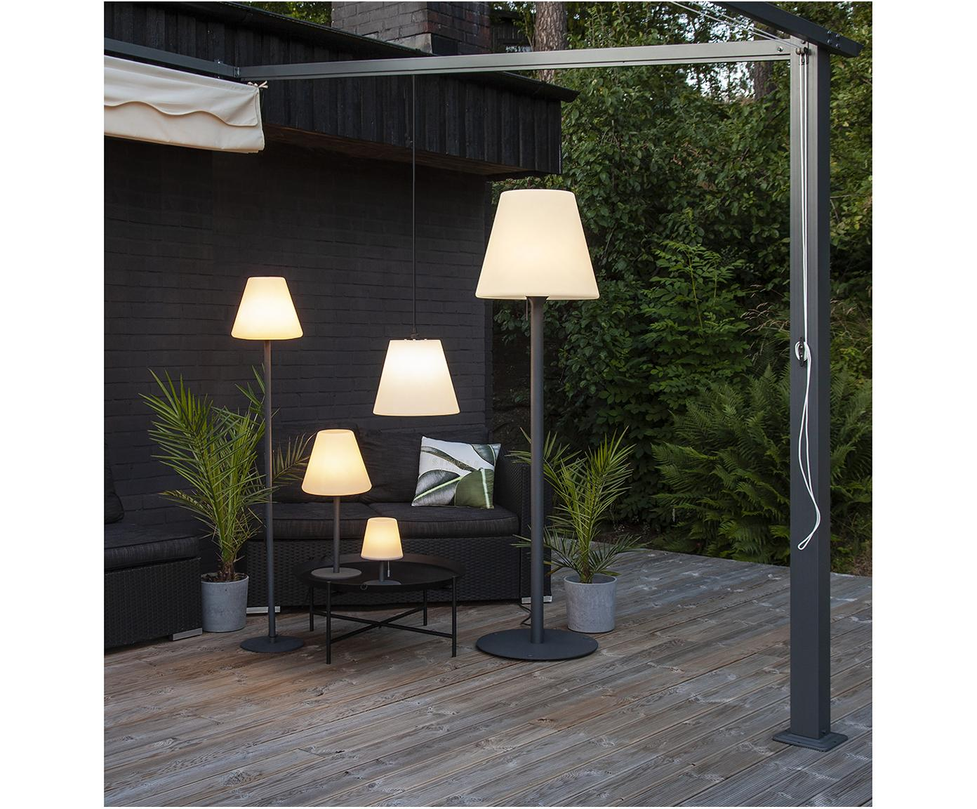 LED Außenstehleuchte Gardenlight, Lampenfuß: Metall, beschichtet, Weiß, Anthrazit, Ø 28 x H 150 cm