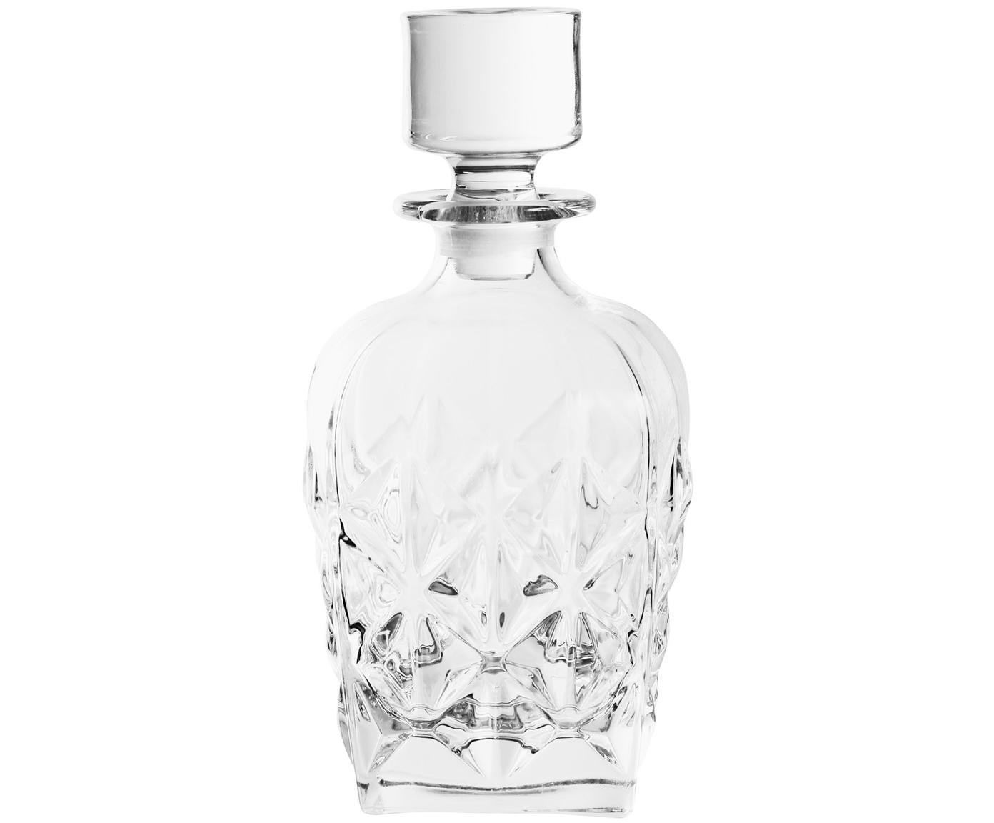 Kryształowa karafka Fine, Szkło kryształowe, Transparentny, W 17 cm