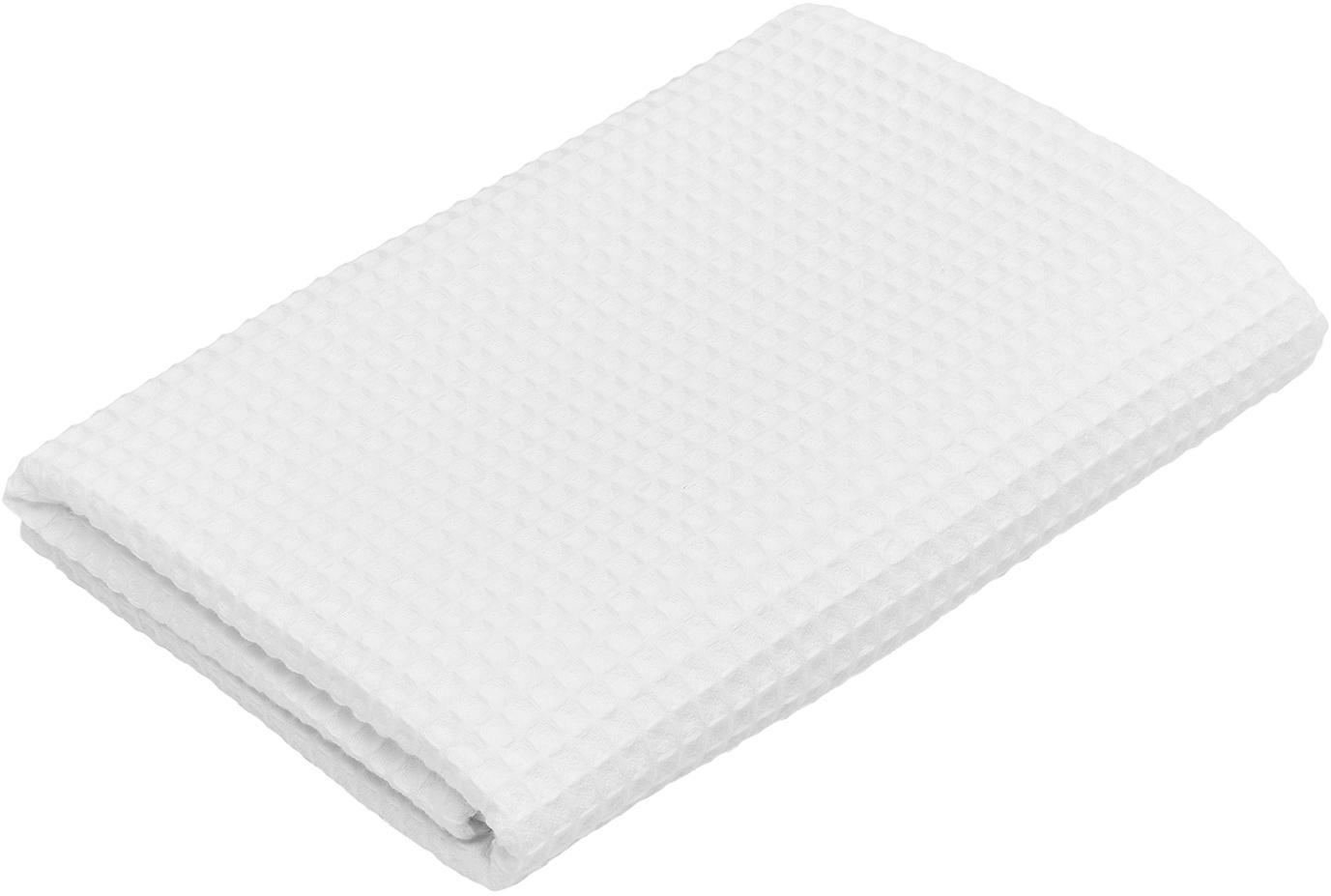 Leichtes Waffelpiqué-Handtuch Karima, verschiedene Größen, Weiß, Duschtuch