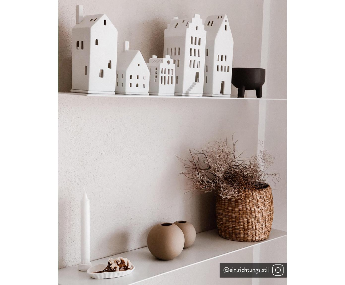 Świecznik na podgrzewacze Lichtzauber, Porcelana, Biały, S 7 x W 10 cm