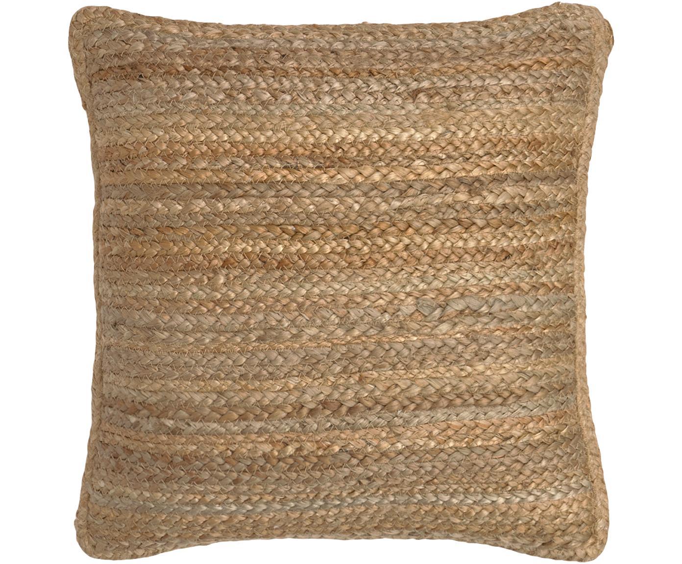 Jute-Kissenhülle Ural, Vorderseite: Jute, Rückseite: Baumwolle, Jute, 45 x 45 cm