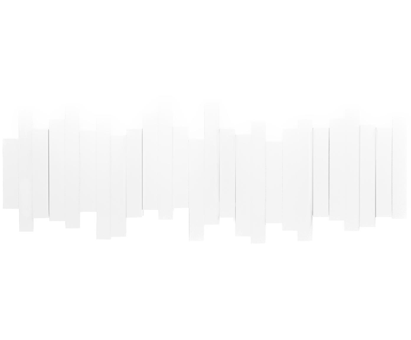 Appendiabiti Sticks, Materiale sintetico, Bianco, Larg. 48 x Alt. 18 cm