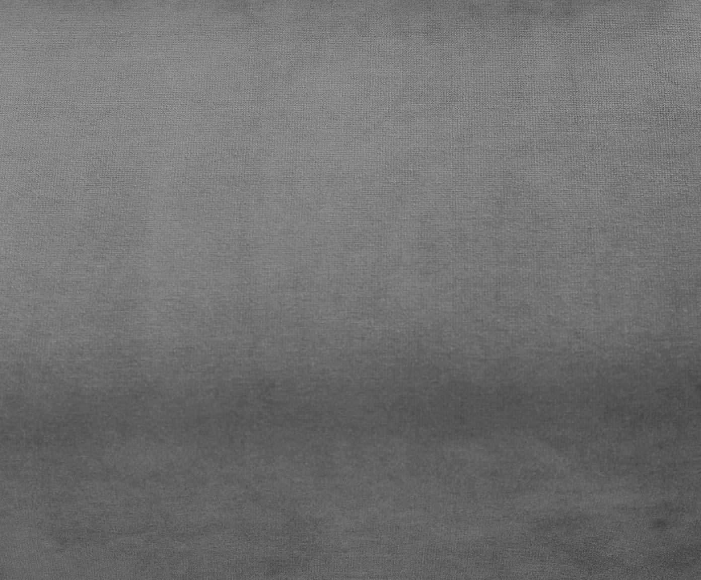 Zamatová rohová pohovka Moby, Sivá