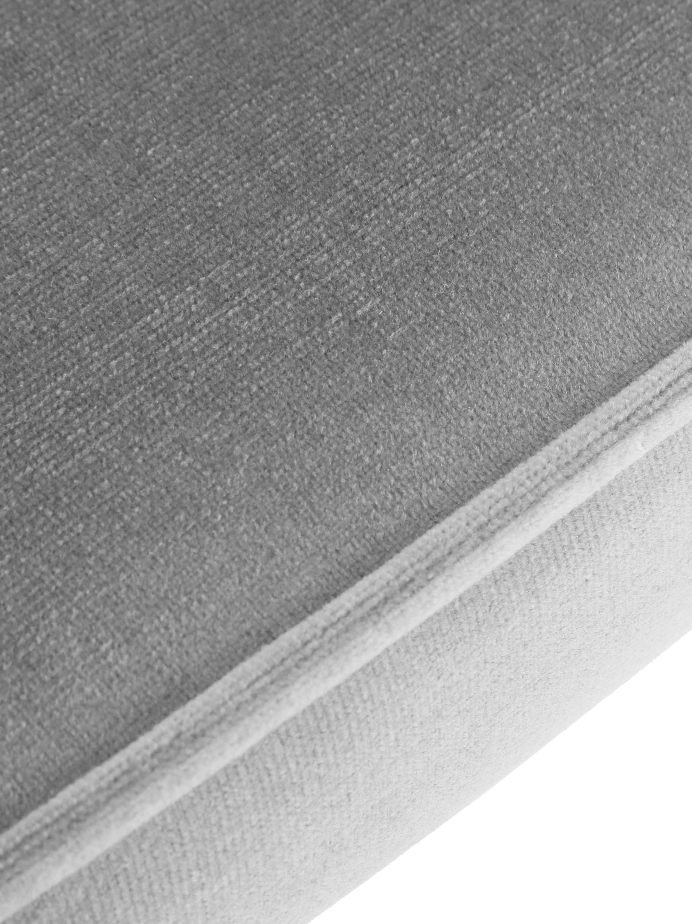 Samt-Polsterstühle Jasper, 2 Stück, Bezug: Samt (Hochwertiger Polyes, Beine: Metall, pulverbeschichtet, Grau, B 49 x T 57 cm