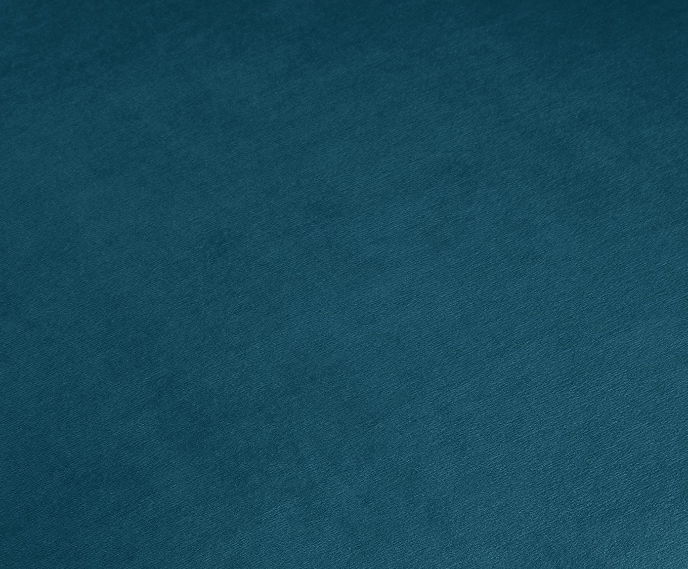 Fluwelen fauteuil Milo, Bekleding: fluweel (hoogwaardig poly, Frame: grenenhout, Poten: gelakt metaal, Petrol, 77 x 75 cm