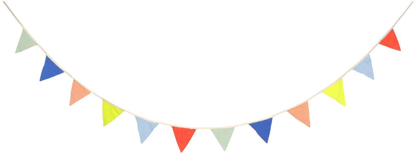 Girlande Flag aus Bio-Baumwolle, 300 cm, Bio-Baumwolle, Mehrfarbig, L 300 x H 10 cm