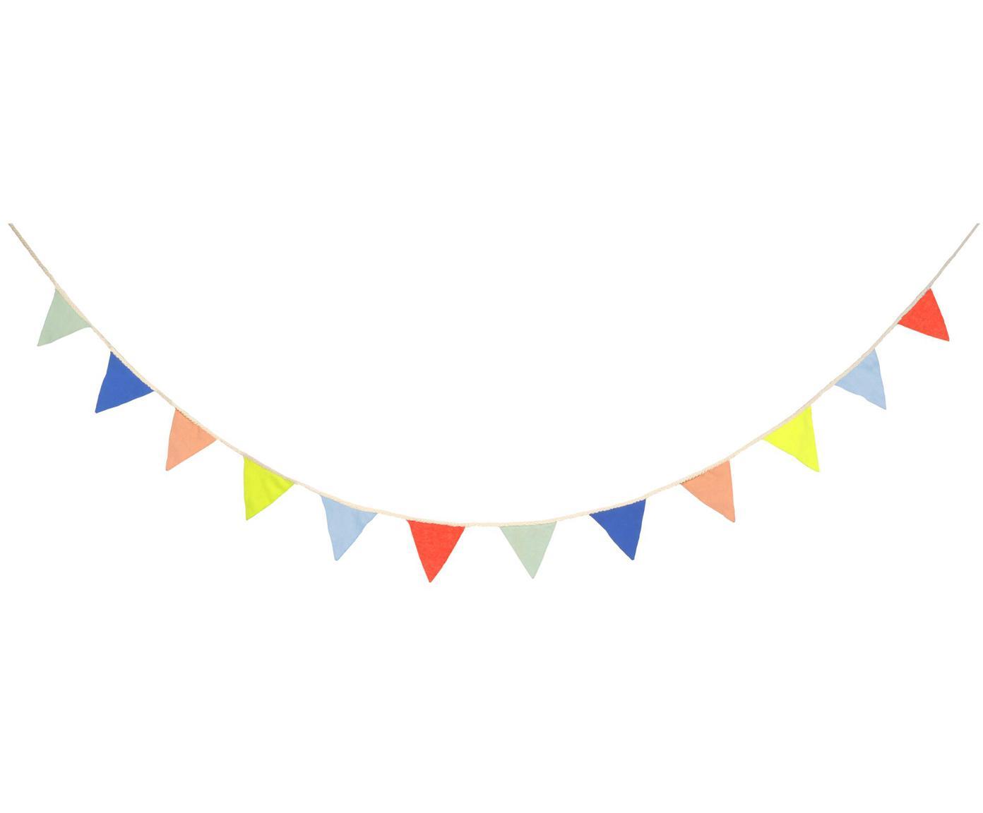 Girlande Flag aus Bio-Baumwolle, 300 cm, Bio-Baumwolle, Mehrfarbig, L 300 cm