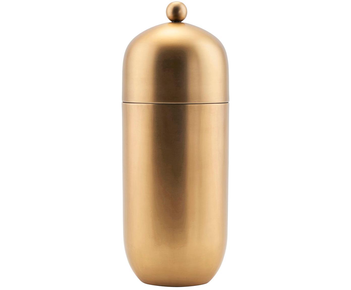 Cocktailshaker Alir, goudkleurig, Edelstaal, messing, Messingkleurig, Ø 9 x H 21 cm