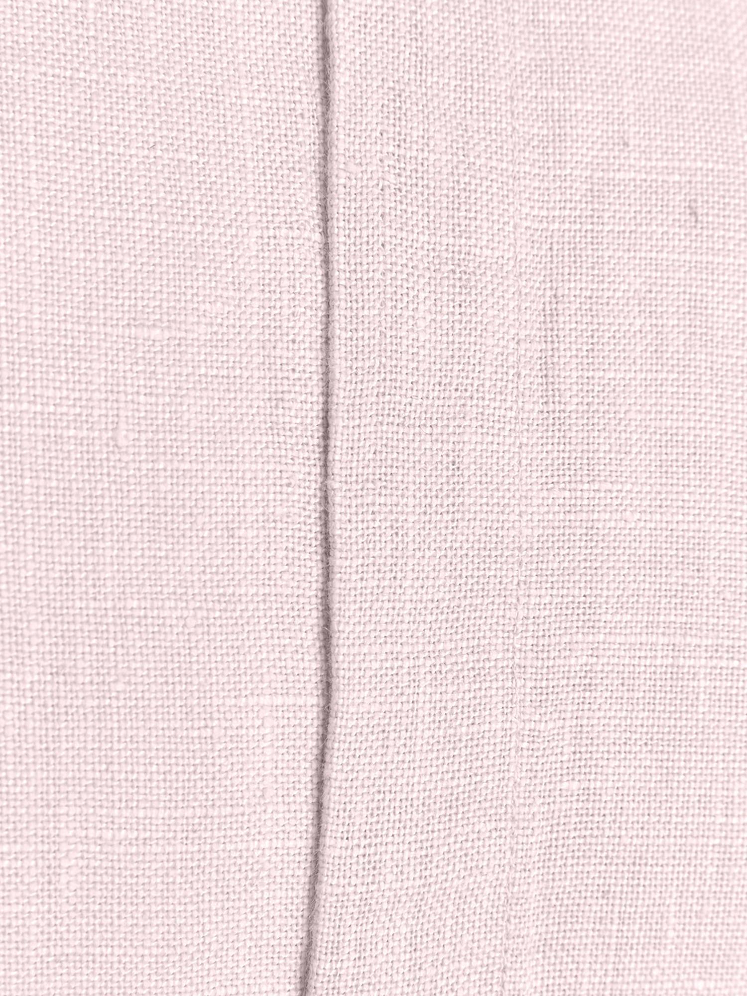 Federa arredo in lino con frange Luana, Lino, Rosa cipria, Larg. 40 x Lung. 40 cm