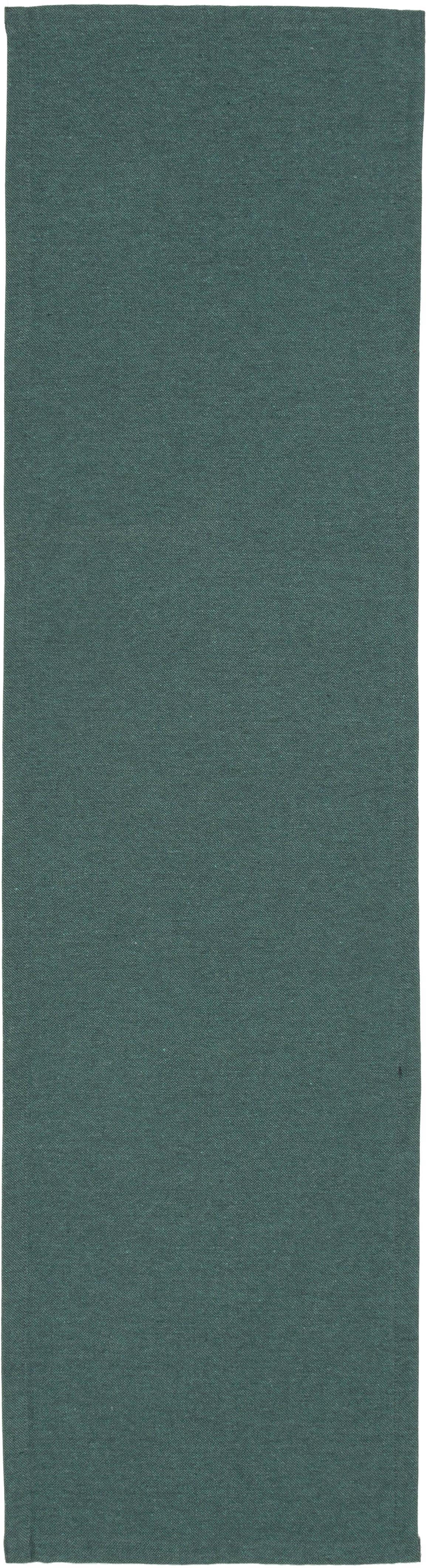 Camino de mesa Riva, 55%algodón, 45%poliéster, Azul petróleo, An 40 x L 150 cm