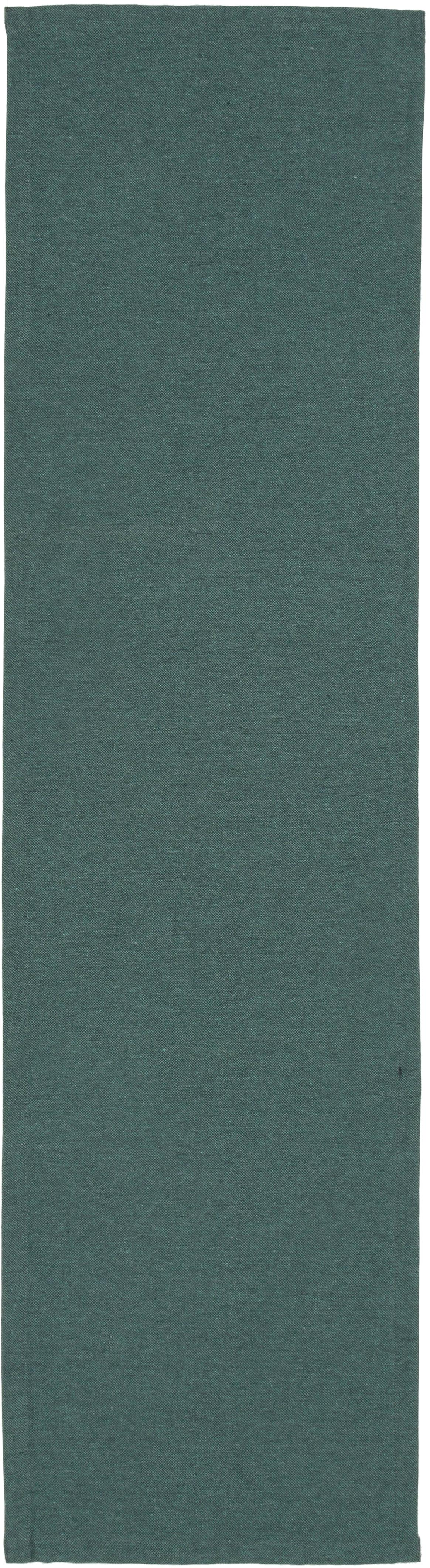 Runner da tavolo Riva, 55% cotone, 45% poliestere, Petrolio, Larg. 40 x Lung. 150 cm