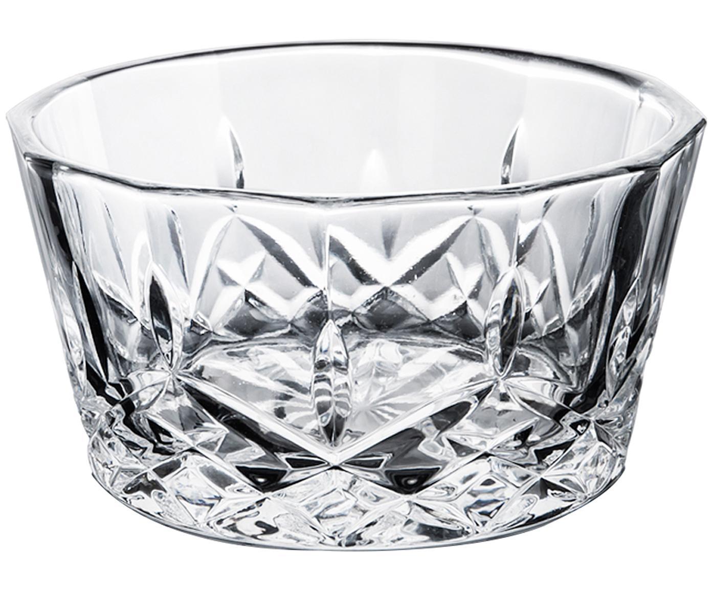 Dipschalen Harvey, 4 Stück, Glas, Transparent, Ø 11 x H 6 cm