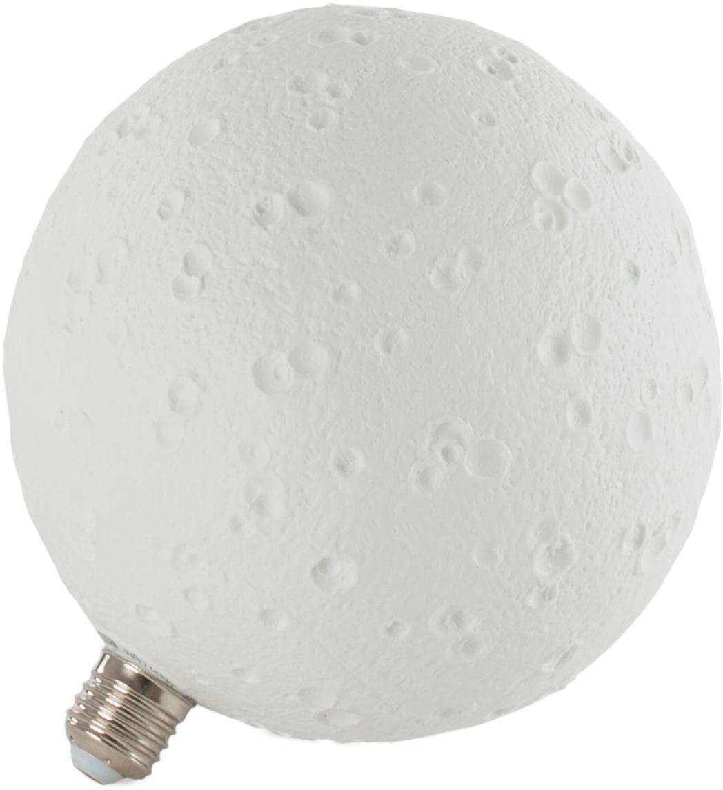 Leuchtmittel Moonlight (E27/8W), Porzellan, Weiß, Ø 18 x H 20 cm