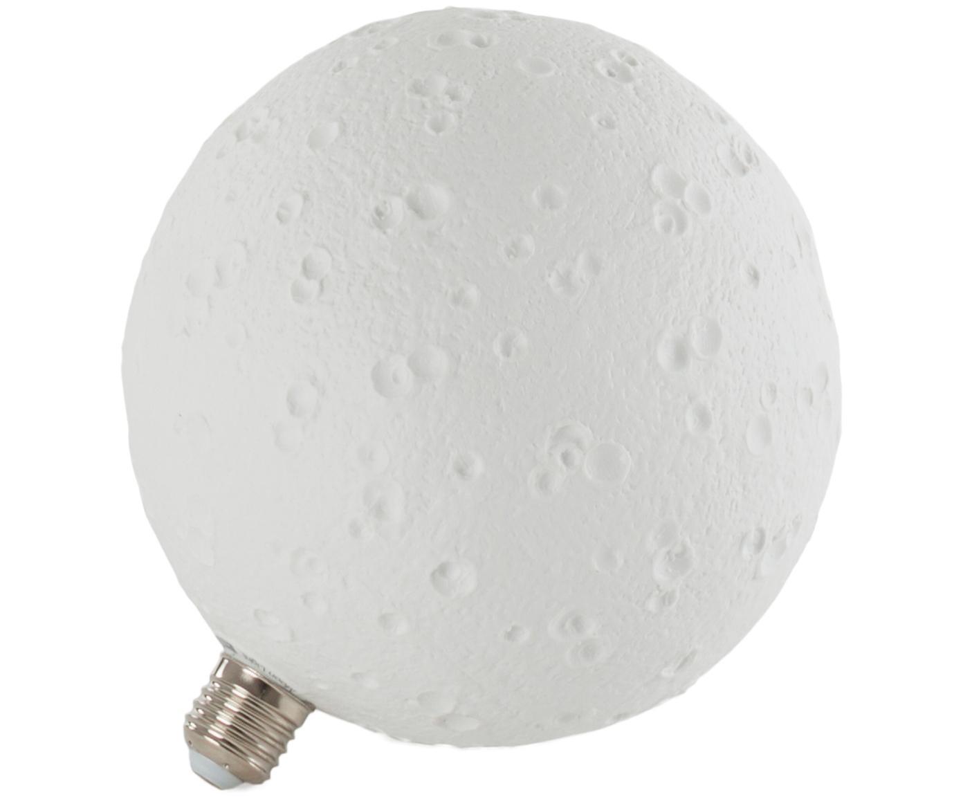 Leuchtmittel Moonlight (E27/8W), Porzellan, Weiss, Ø 18 x H 20 cm