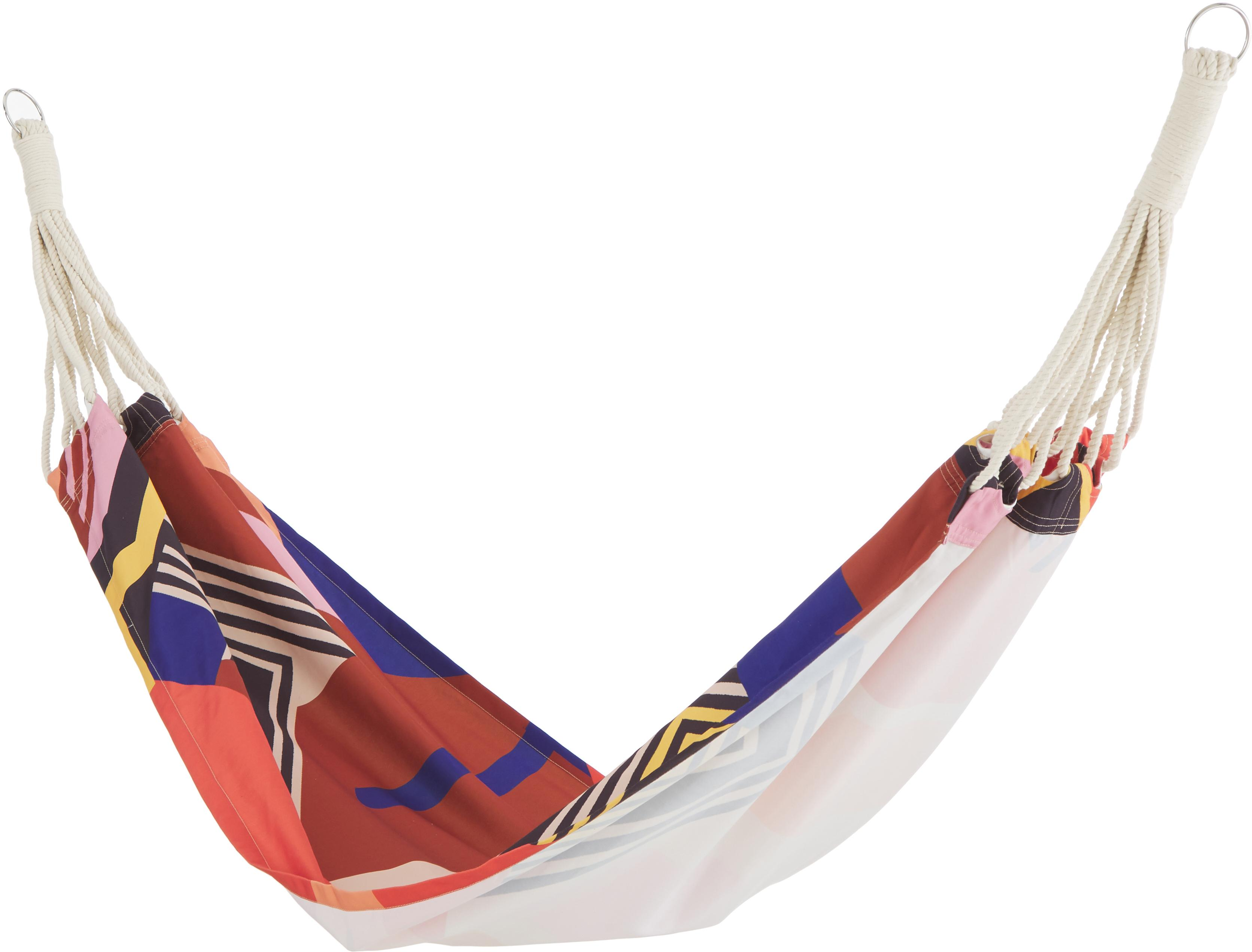 Hamak Arti, Poliester, Czerwony, niebieski, czarny, blady różowy, żółty, S 80 x D 180