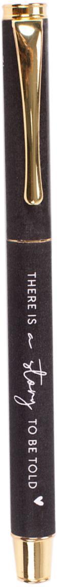 Penna stilografica Story, Metallo verniciato, Grigio scuro, ottonato, Lung. 13 cm