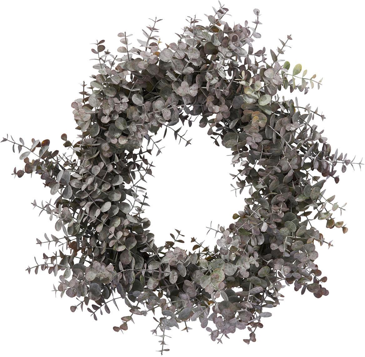 Wieniec eukaliptusowy Eurelia, Tworzywo sztuczne, Pudrowy zielony, Ø 46 x W 10 cm