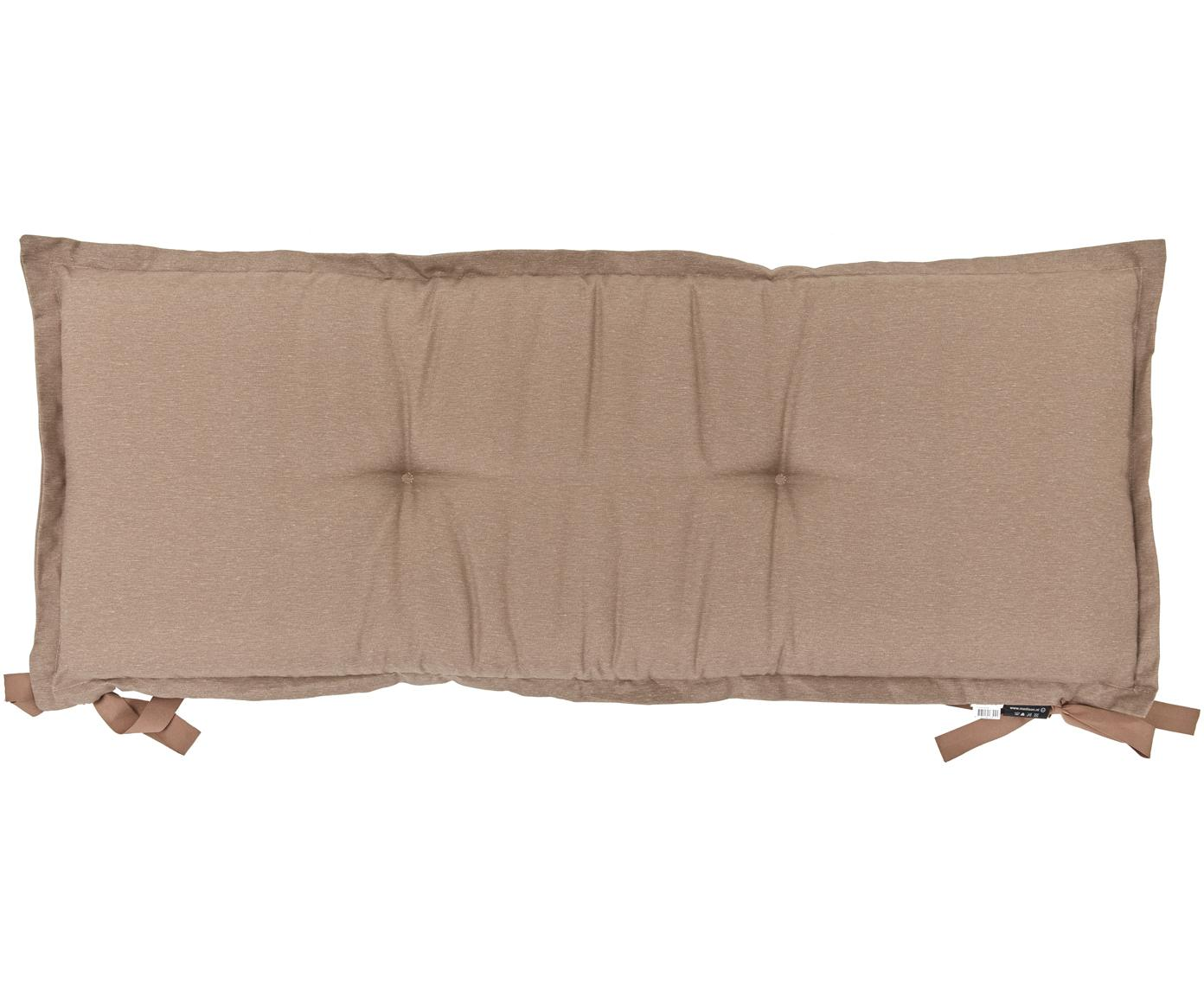 Einfarbige Bankauflage Panama, Bezug: 50% Baumwolle, 45% Polyes, Taupe, 48 x 150 cm