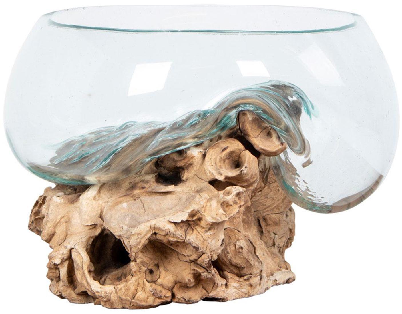 Pieza decorativa Waterdrop, Recipiente: vidrio, Marrón, Transparente, Ø 26 x Al 20 cm