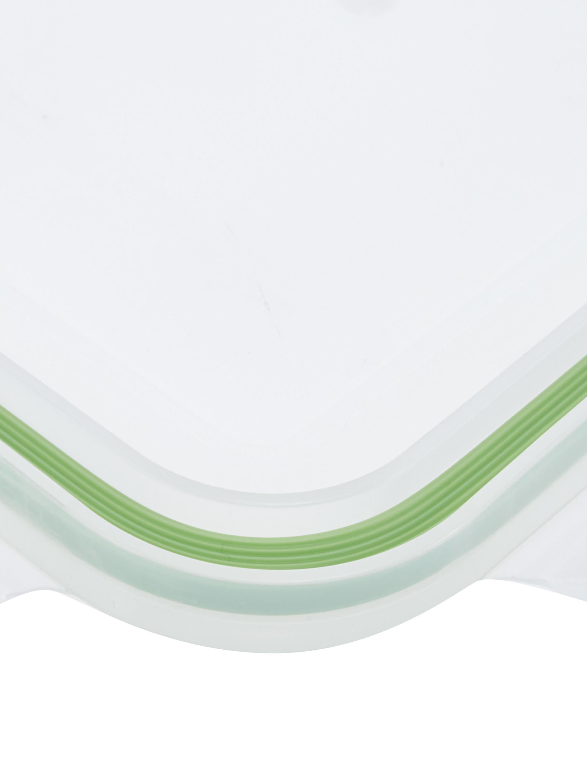 Komplet pojemników do przechowywania żywności Alma, 3elem., Transparentny, jasny zielony, Różne rozmiary