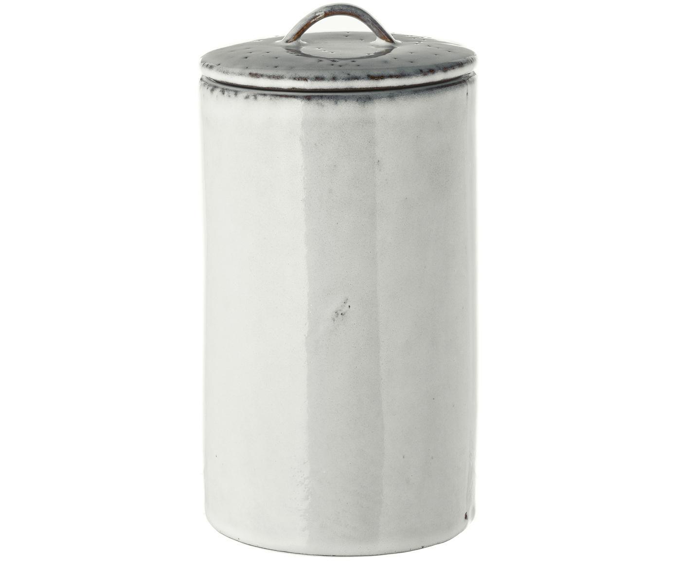 Ręcznie wykonany pojemnik do przechowywania Nordic Sand, Kamionka, Odcienie piaskowego, Ø 12 x W 20 cm