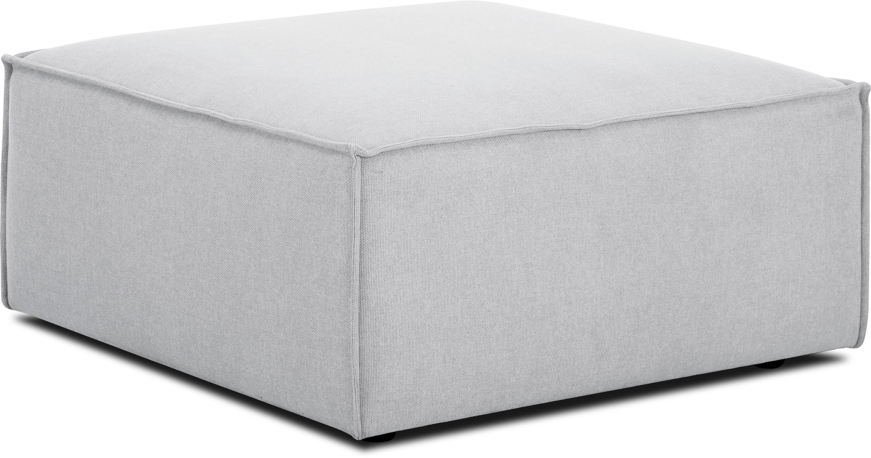 Poggiapiedi da divano grigio chiaro Lennon, Rivestimento: poliestere 35.000 cicli d, Struttura: legno di pino massiccio, , Piedini: materiale sintetico, Tessuto grigio chiaro, Larg. 88 x Alt. 43 cm