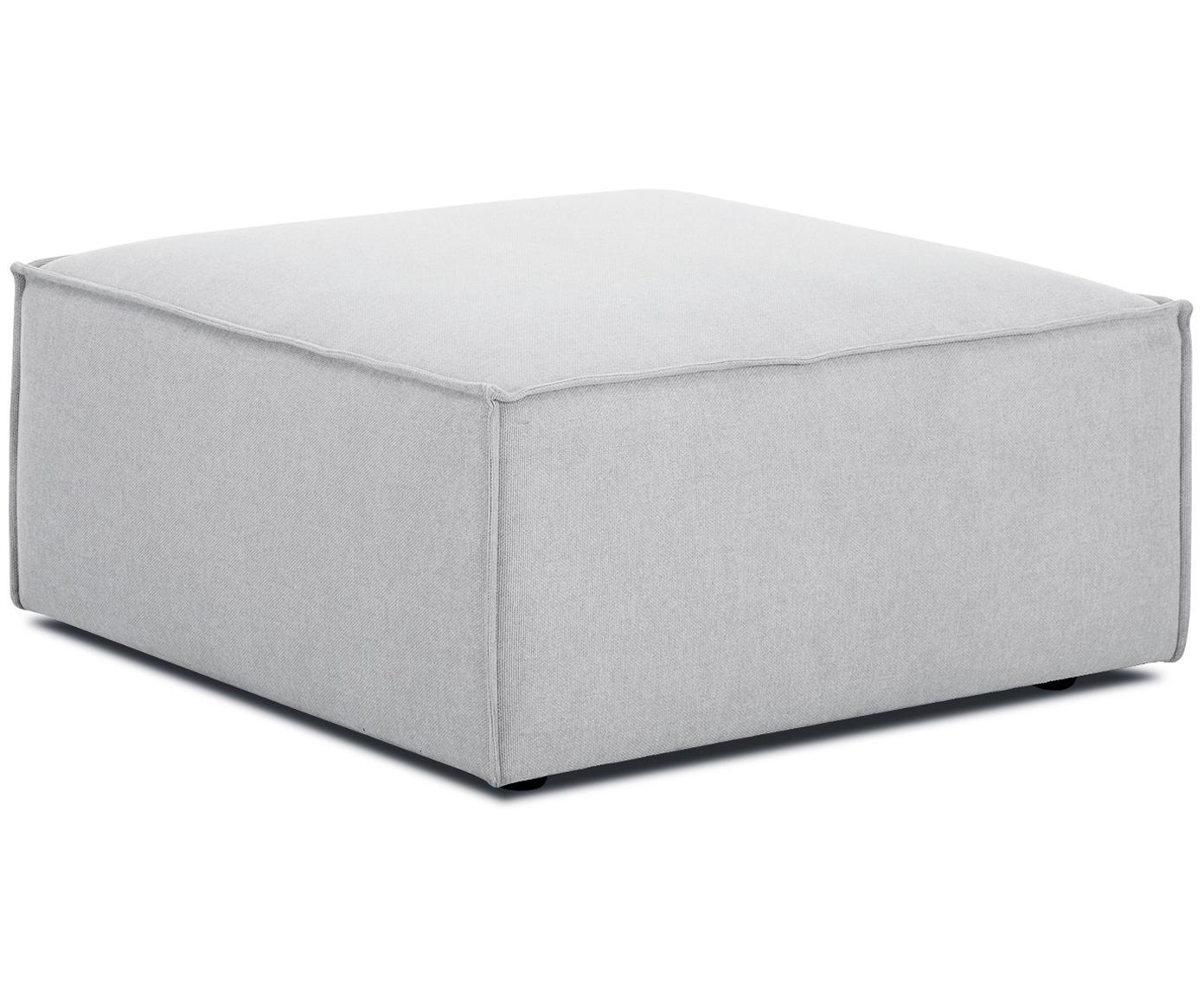 Poggiapiedi da divano Lennon, Rivestimento: poliestere 35.000 cicli d, Struttura: legno di pino massiccio, , Piedini: materiale sintetico, Tessuto grigio chiaro, Larg. 88 x Alt. 43 cm
