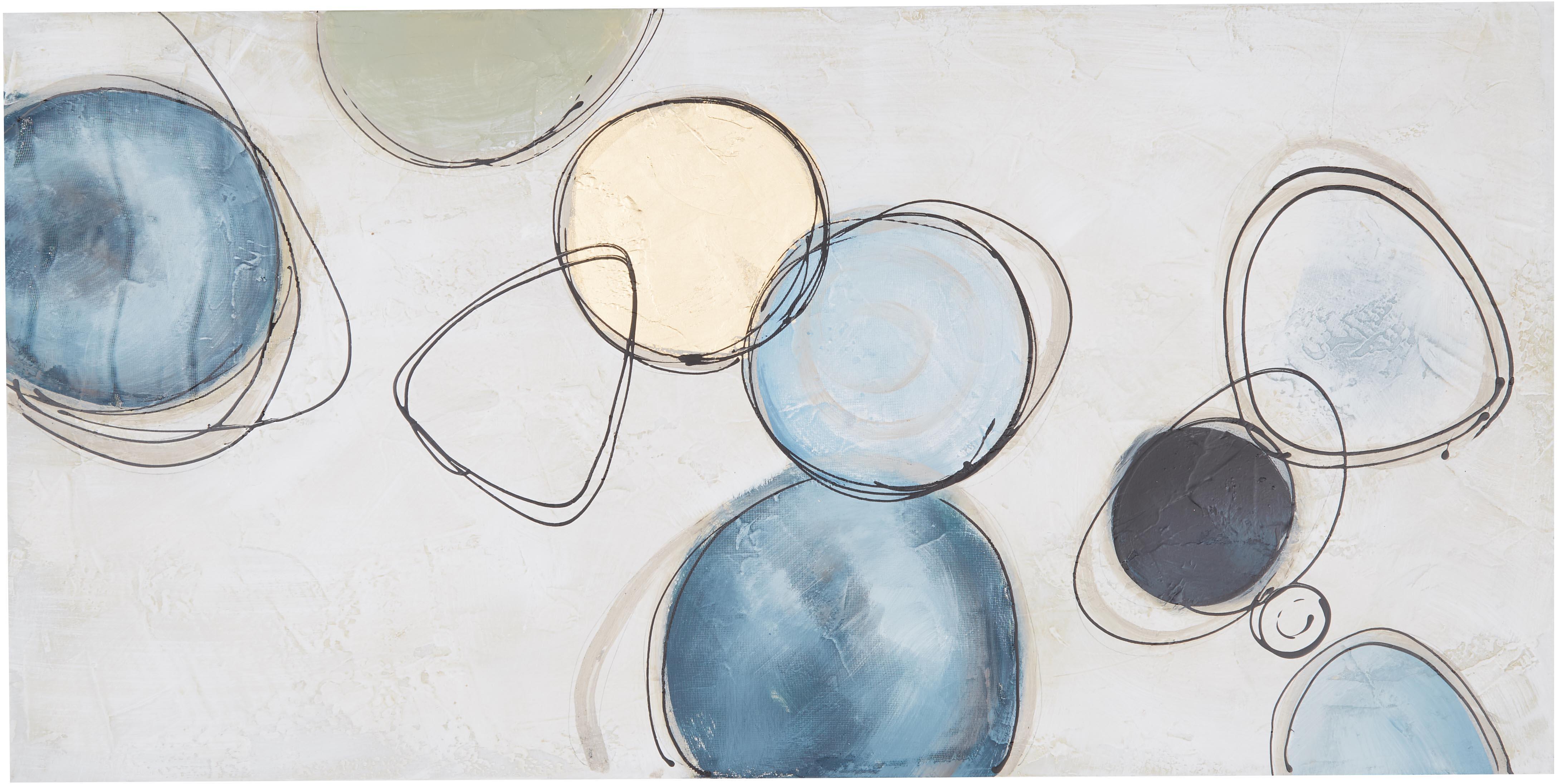 Quadro dipinto a mano Convenience, Immagine: Pitture ad olio su tela (, Multicolore, Larg. 140 x Alt. 70 cm