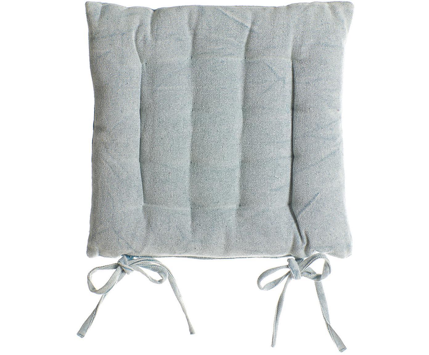 Cojín de asiento Benni, Funda: algodón, Tonos azules, An 40 x L 40 cm