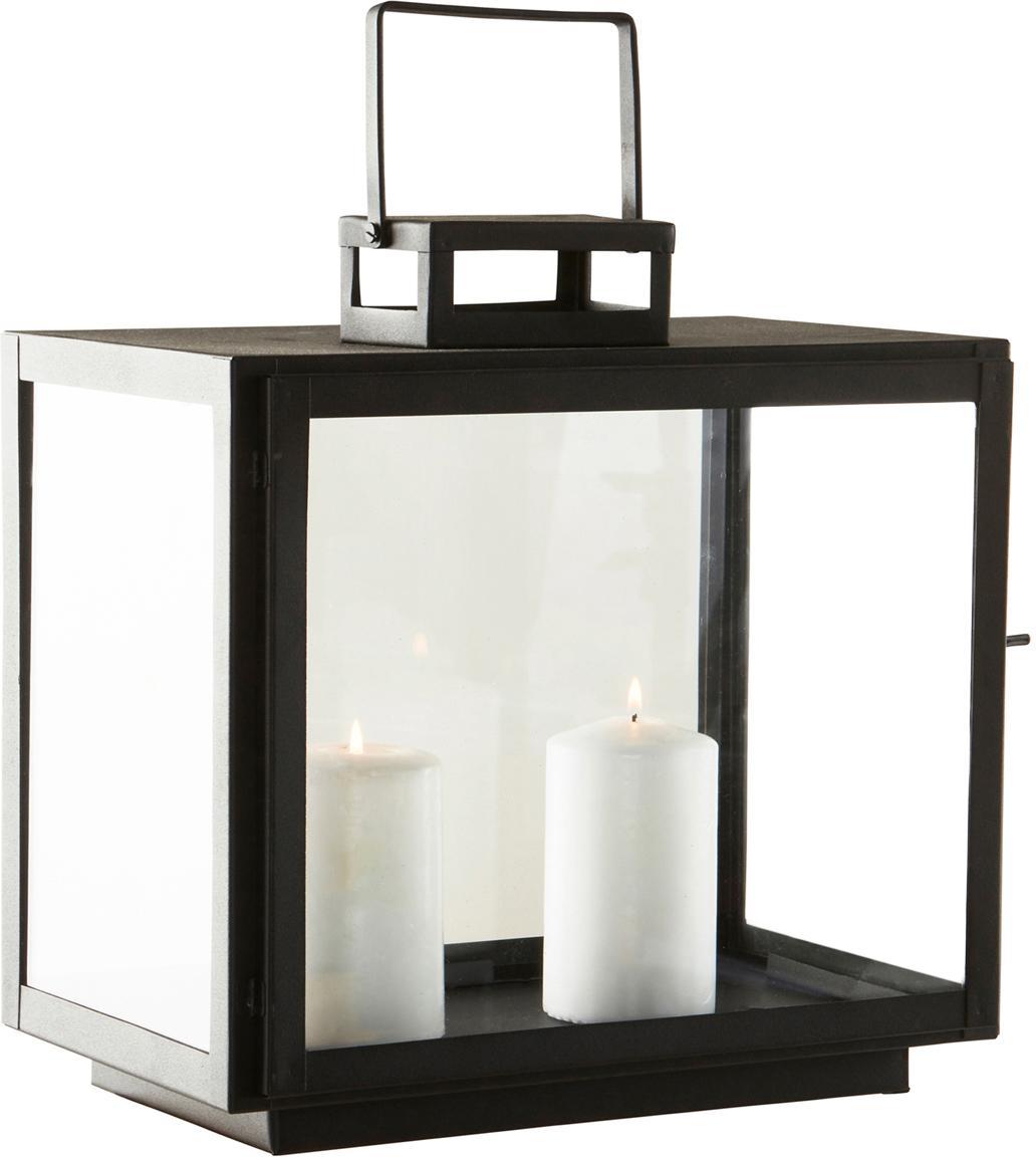 Lantaarn Lacie, Metaal, Zwart, 32 x 33 cm