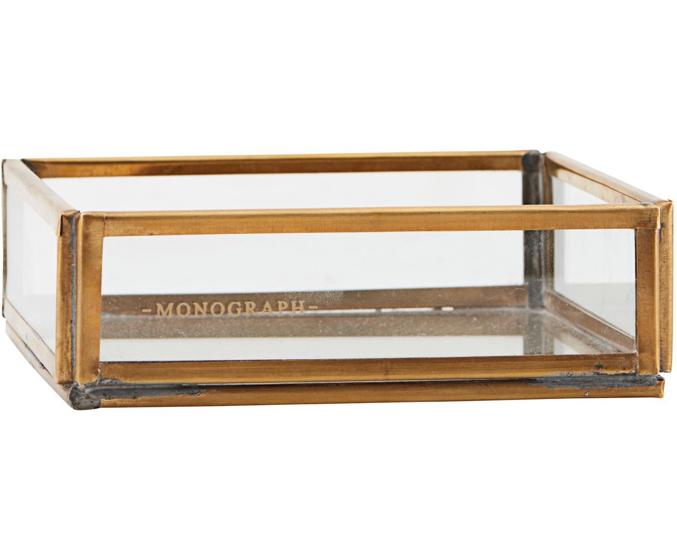 Organizer Sola, Messing, glas, Transparant, messingkleurig, 10 x 4 cm