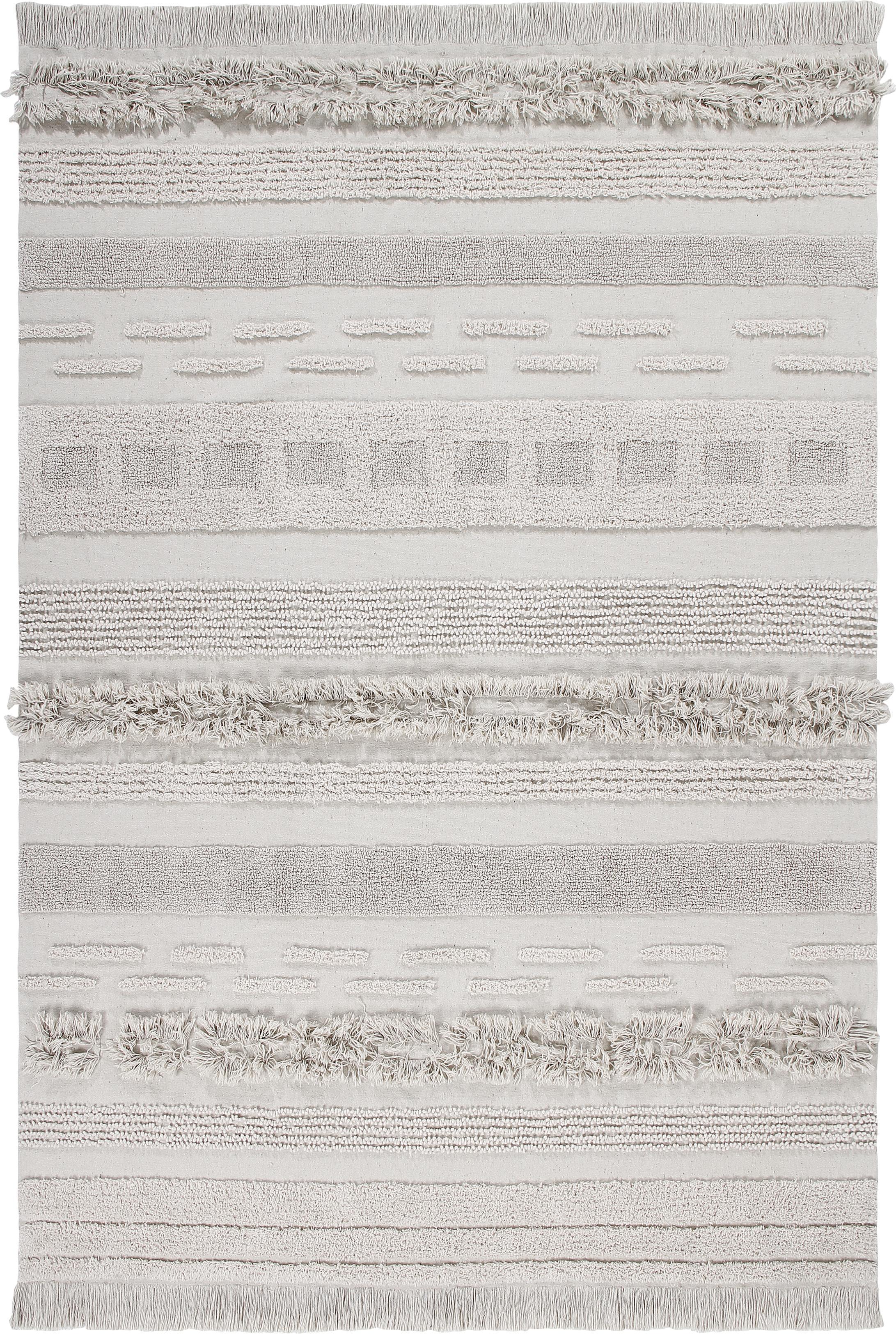 Teppich Air mit Hoch-Tief-Effekt, Flor: 97% recycelte Baumwolle, , Beige, B 170 x L 240 cm (Größe M)