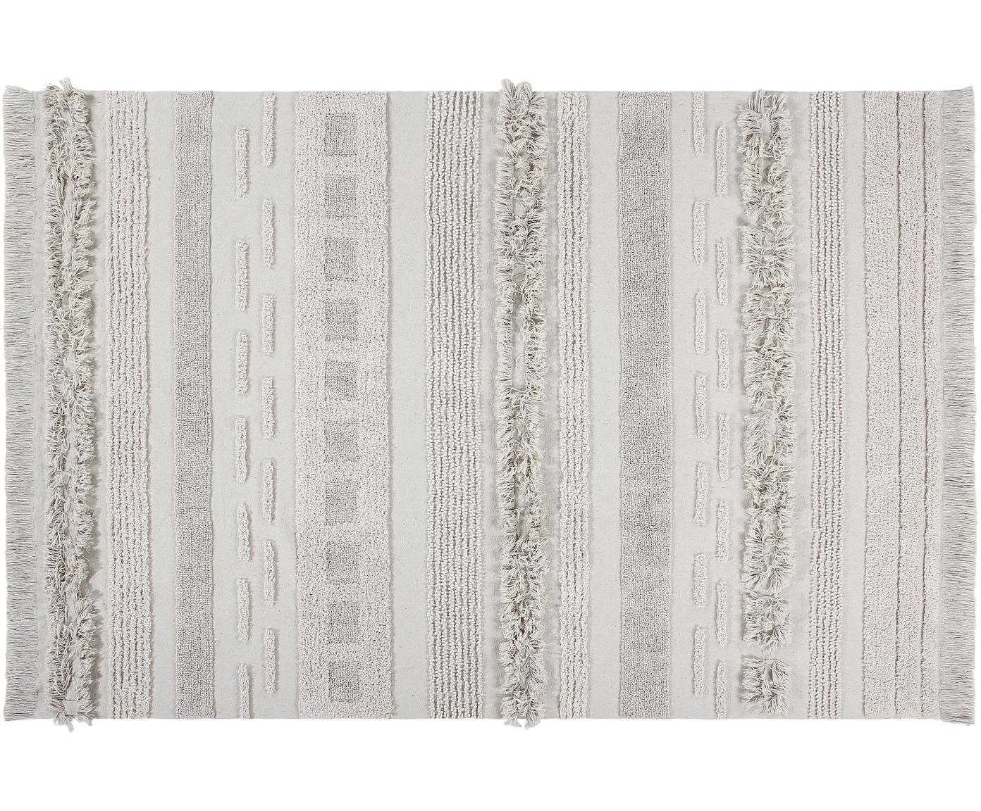 Tappeto in cotone Air, Retro: cotone riciclato, Beige, Larg.170 x Lung. 240 cm  (taglia M)