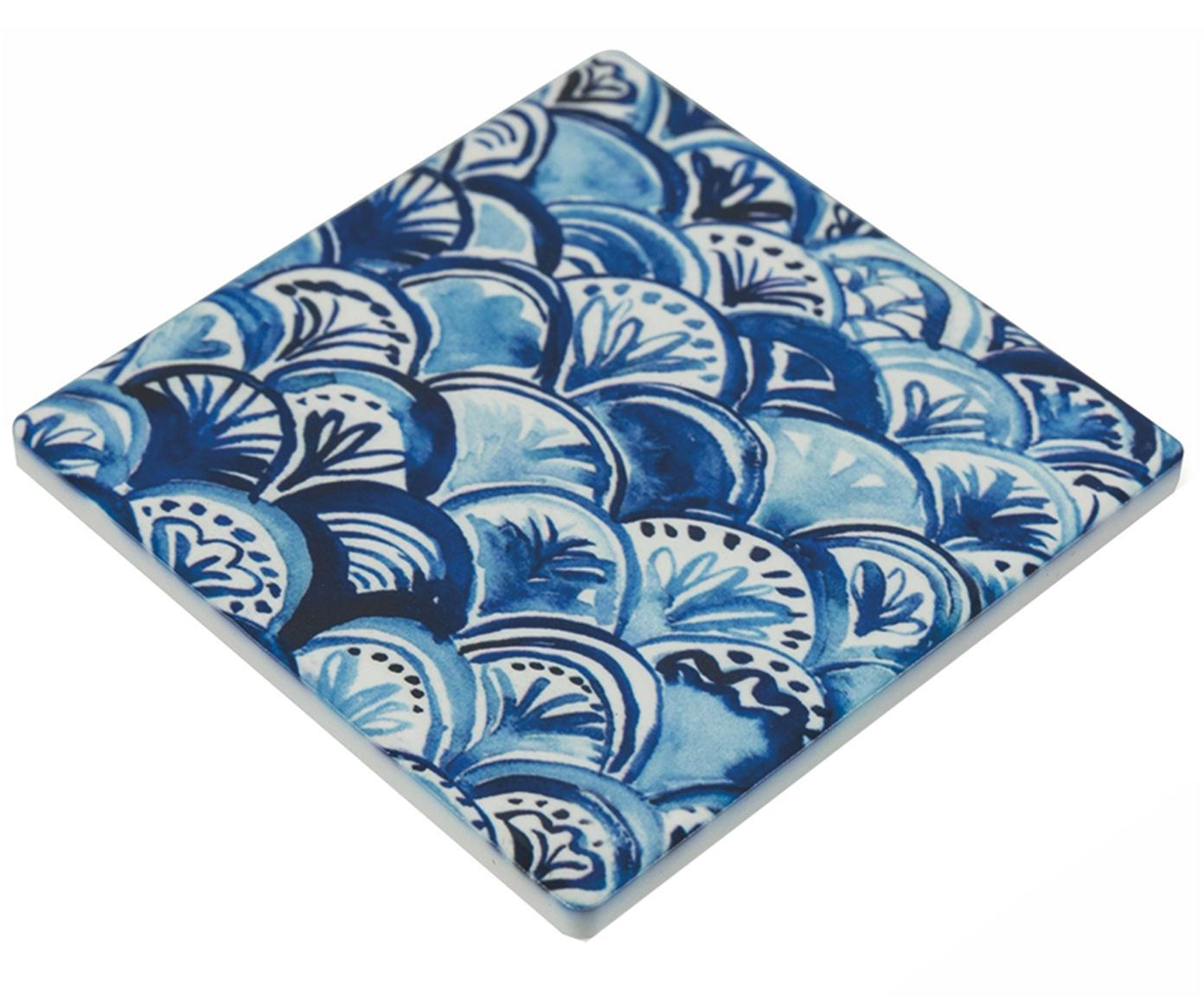 Komplet podstawek Vas, 3 elem., Ceramika, Niebieski, S 10 x G 10 cm