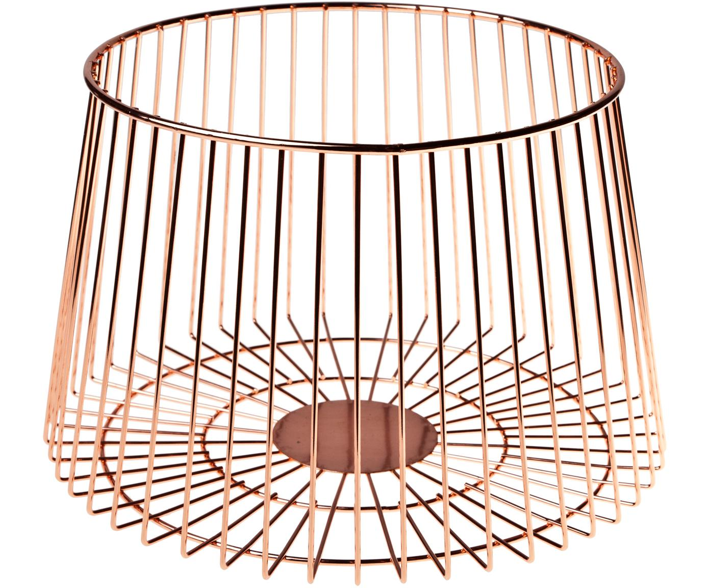 Cesta Basket, Acero inoxidable, recubierto., Color bronce, Ø 24 x Al 16 cm