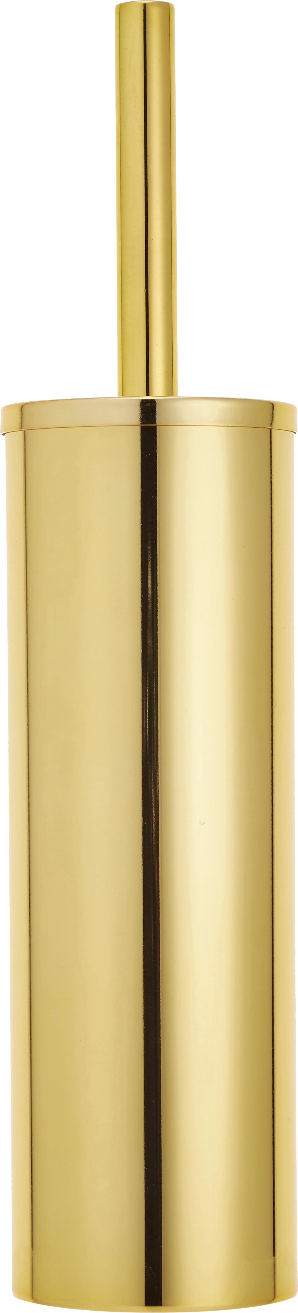Toiletborstel Classic, Gelakt metaal, Goudkleurig, Ø 9 x H 40 cm
