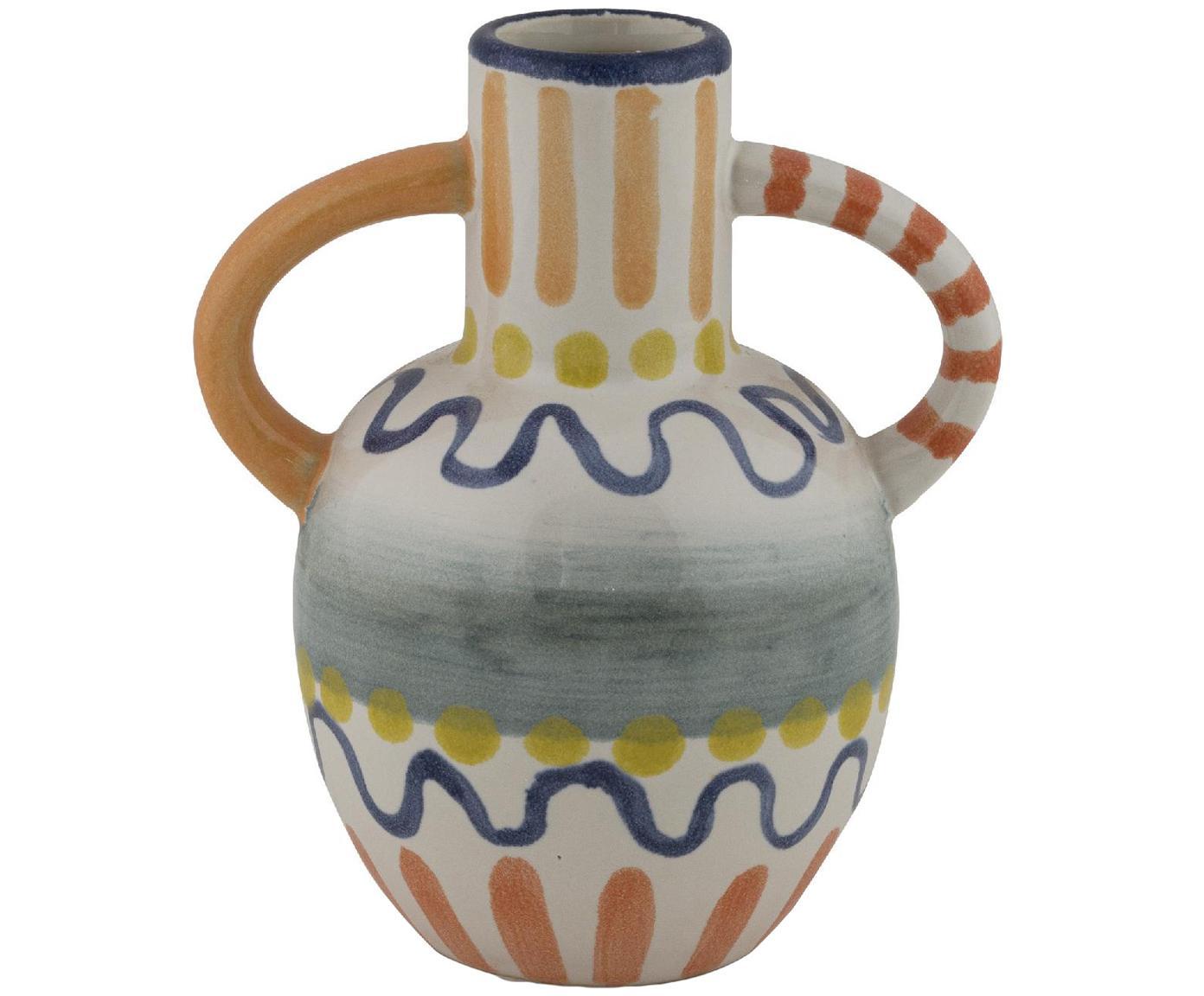 Kleine bemalte Vase Majorelle aus Keramik, Keramik, Mehrfarbig, 13 x 15 cm
