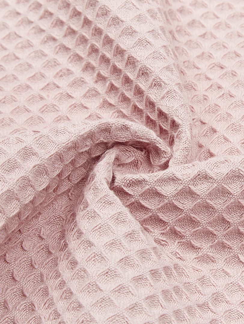 Leichtes Waffelpiqué-Handtuch Karima, verschiedene Größen, Altrosa, Gästehandtuch