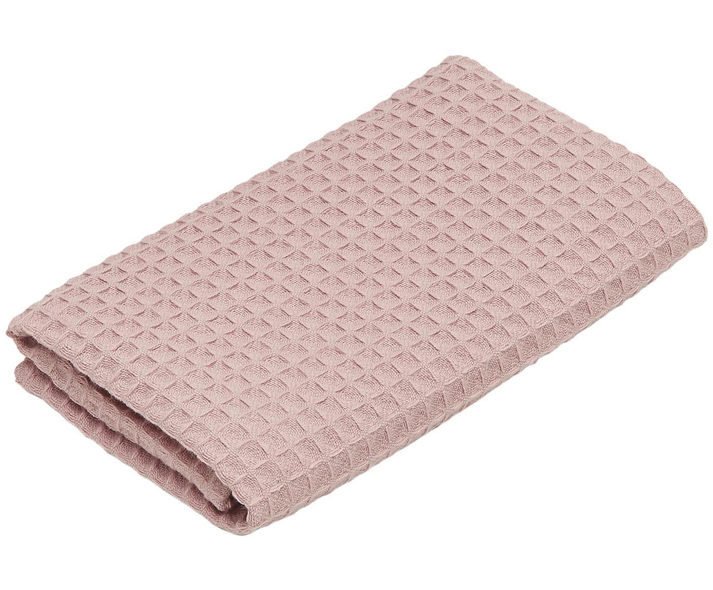 Wafelpiqué handdoek Karima, 100% katoen lichte kwaliteit, 250 g/m², Oudroze, Gastendoekje