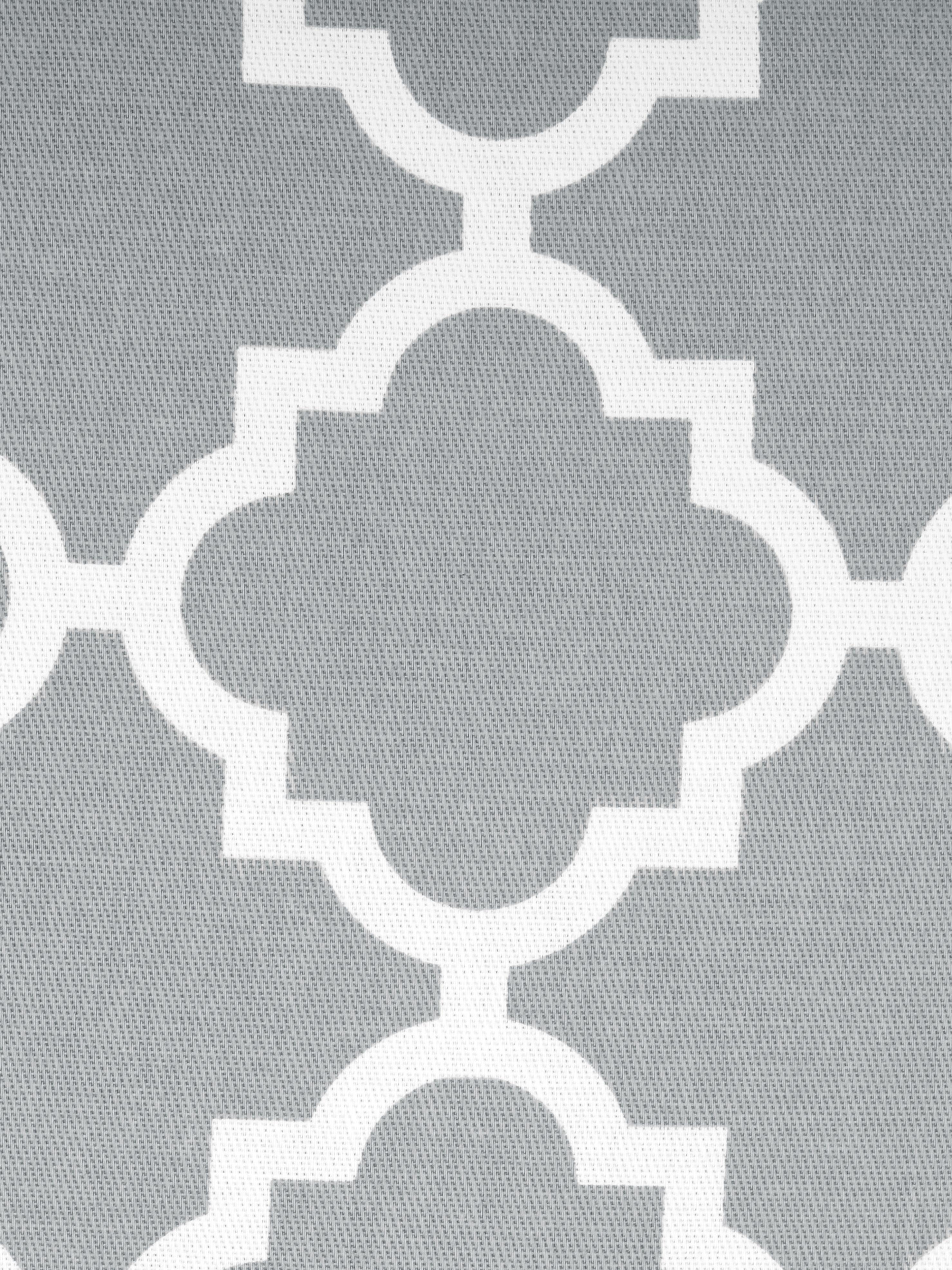 Kussenhoes Lana, 100% katoen, Grijs, wit, 45 x 45 cm